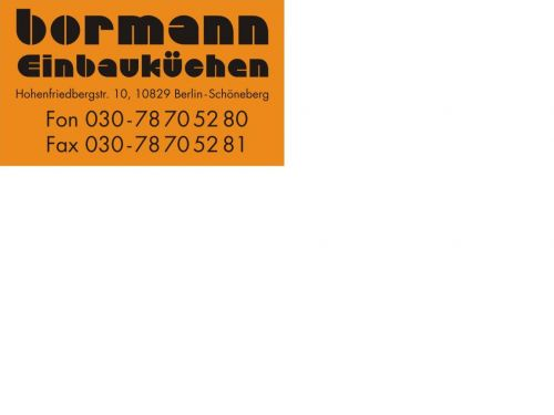 dienstleister bormann einbauk chen aus berlin. Black Bedroom Furniture Sets. Home Design Ideas
